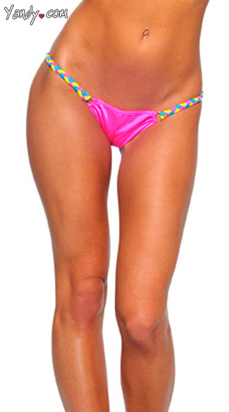 Colorful Kandi Strap Ruched Bottom, Neon Ruched Butt Bottom, Sexy Ruched Bottom