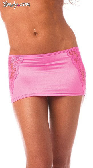 Lace Side Skirt, Stretch Mini Skirt, Super Tight Micro Skirt