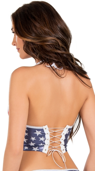 Stars and Stripes Molded Cup Bustier