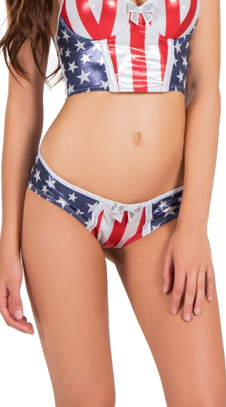 Stars and Stripes Flag Panty