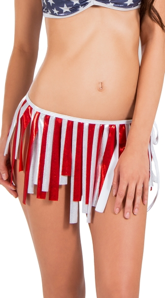 Patriotic Fringe Skirt