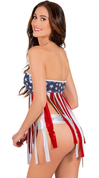 Stars and Stripes Fringe Bandeau Babydoll
