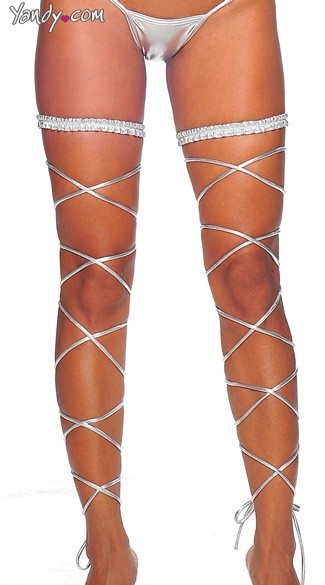 Metallic Garter and Leg Wrap Set