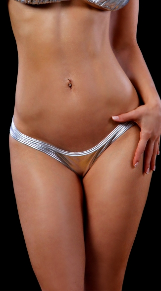 Metallic Scrunch Back Bikini Panty