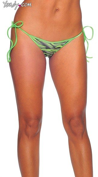 Zebra Print Tie Side Mini Scrunch Bottom