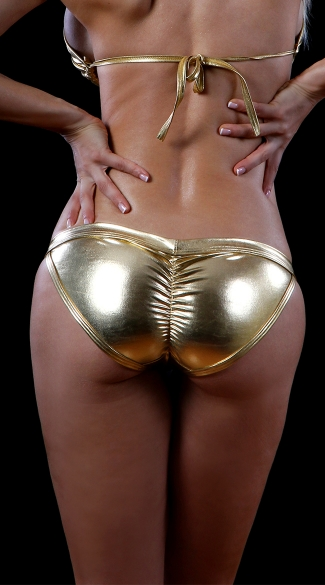Metallic Exposed Side Panty