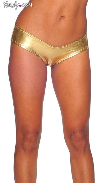 Metallic Micro Boy Shorts, Sexy Metallic Boy Shorts, Metallic Scrunch Back Shorts, Metallic Booty Shorts