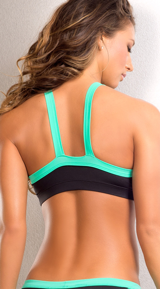 Splash Neon Sports Bra