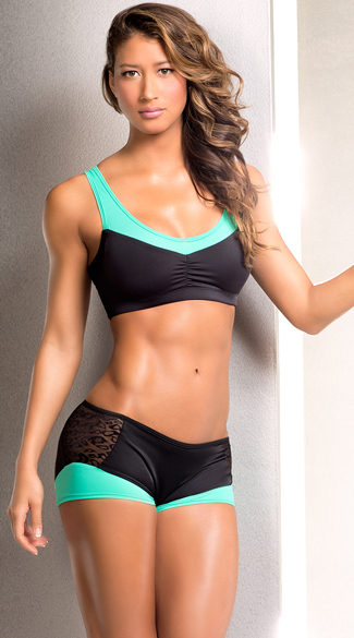 Neon Ruched Sports Bra