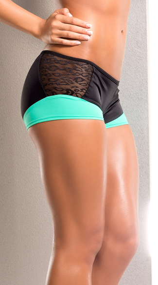 Neon Leopard Scrunch Back Shorts
