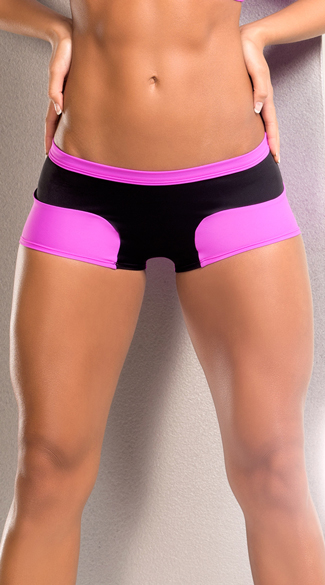 Neon Stretchy Shorts, Cardio Shorts, Gym Shorts