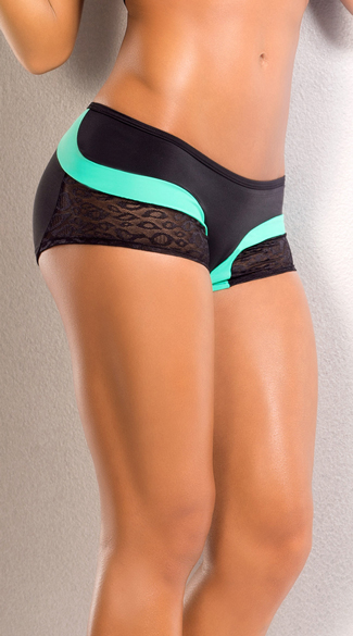 Leopard Scrunch Back Shorts