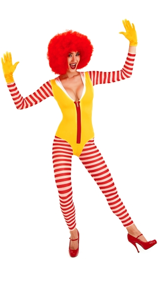 Striped Clown Costume