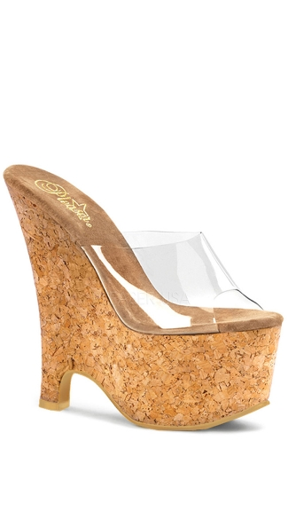 "6 1/2"" Cork Wedge Heel, Sexy Cork Wedges"