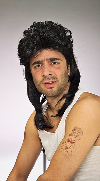 Black Mullet Costume Wig, Mullet Wig for Men, Black Mullet Wig