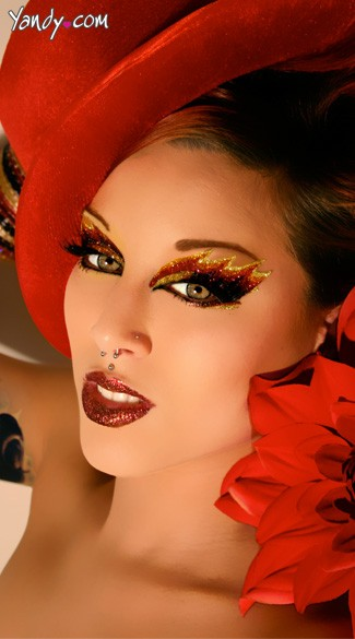 Blazing Fire Kit, Devil Costume Eye Makeup Kit, Fire Make Up