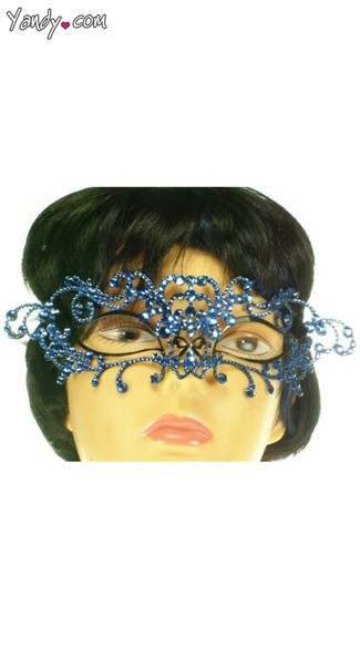Brilliant Brass & Swarovski Mask