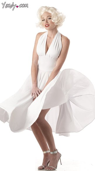 Sexy Marilyn Costume, Sexy Marilyn Halloween Costume, Marilyn Monroe Dress