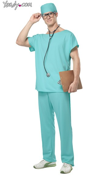 Doctor Scrubs Costume, Mens Doctor Costume, Scrubs Halloween Costume, Scrubs Costume
