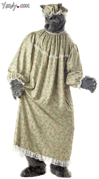 Wolf Granny Costume, Big Bad Wolf Costume, Adult Wolf Costume