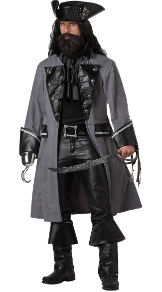 Men\'s Blackbeard Costume, Men\'s Pirate Costume, Men\'s Pirate Captain Costume