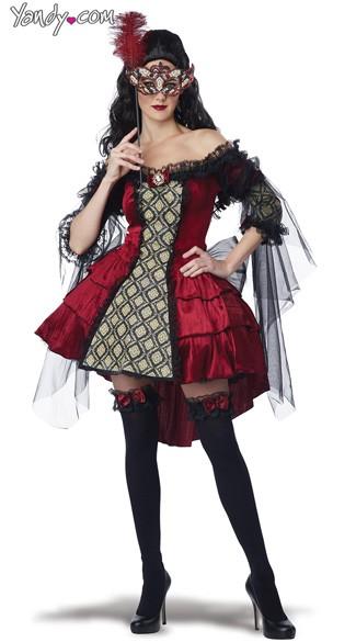 Size Mysterious Masquerade Costume, Plus Size Masquerade Queen ...
