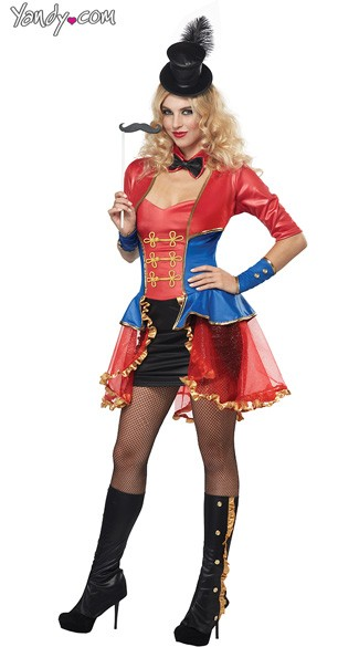 Adult Ringmaster Costume, Womens Ringmaster Costume, Female Ring Master Costume