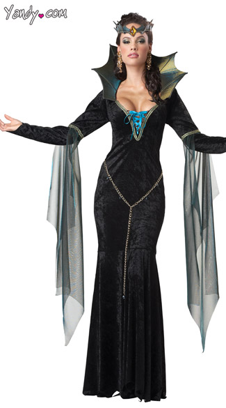 Evil Sorceress Costume, Wicked Witch Costume, Evil Queen Costume