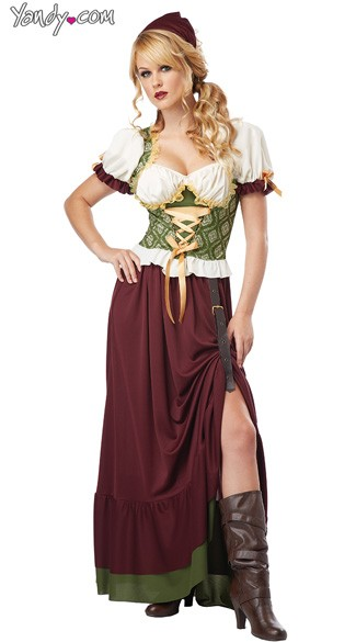 Renaissance Wench Costume, Tavern Maid Halloween Costume, Tavern Wench Costume