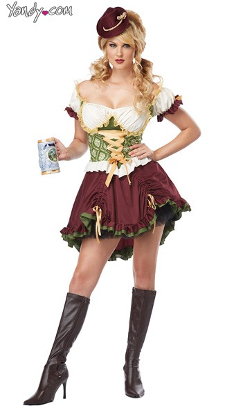 Adult Beer Garden Girl Costume, Adult Beer Costume, Beer Woman Costume