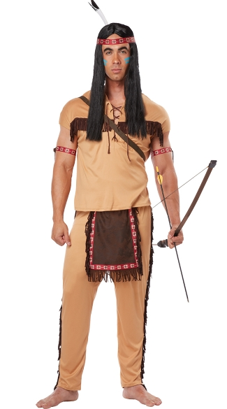 Men\'s Native American Brave Costume, Men\'s Indian Costume, Men\'s Native Costume