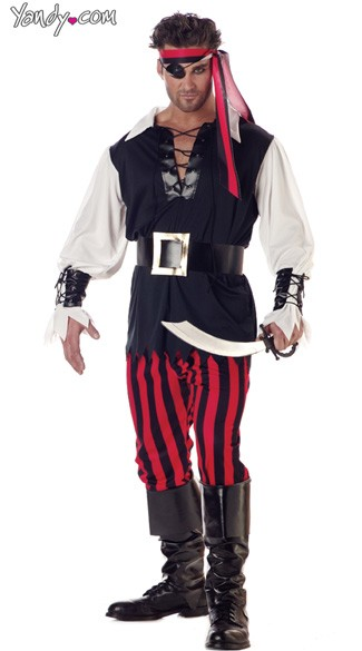 Cutthroat Pirate Costume, Men\'s Pirate Halloween Costume