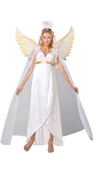Guardian Angel Costume, White Angel Costume, Gold Angel Costume