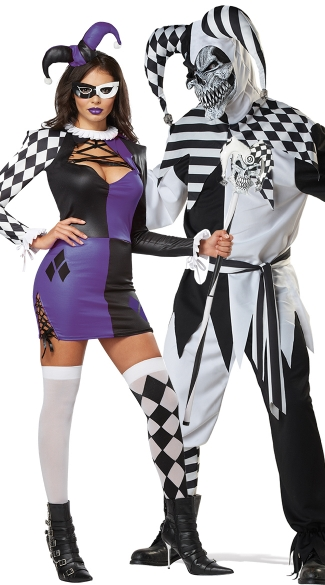 Naughty Jester Costume, Sexy Clown Costume, Sexy Harlequin Costume, Men\'s Nobody\'s Fool Costume, Men\'s Jester Costume, Men\'s Clown Costume