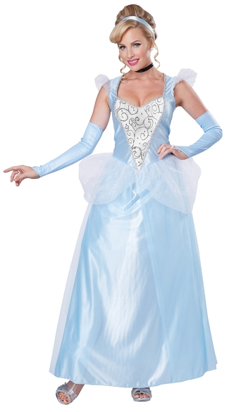 Romantic Midnight Princess Costume, Blue Princess Costume