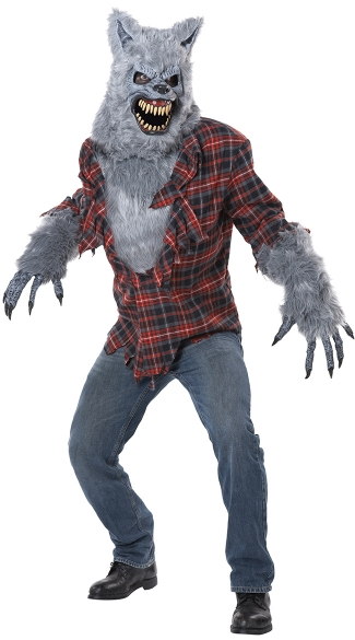 Men\'s Gray Lycan Costume, Men\'s Werewolf Costume, Men\'s Wolf Costume