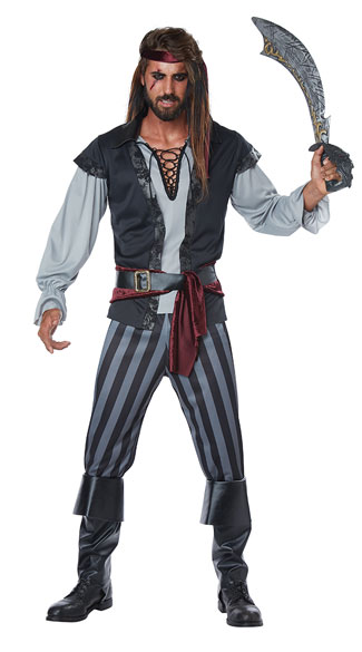 Men\'s Scallywag Pirate Costume, Men\'s Party Pirate Costume - Yandy.com