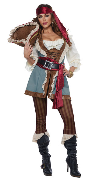 Plus Size Jewel Of The Sea Costume, Plus Size Pirate Costume - Yandy.com