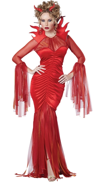 Devilish Diva Costume, Sexy Devil Costume, Red Devil Costume
