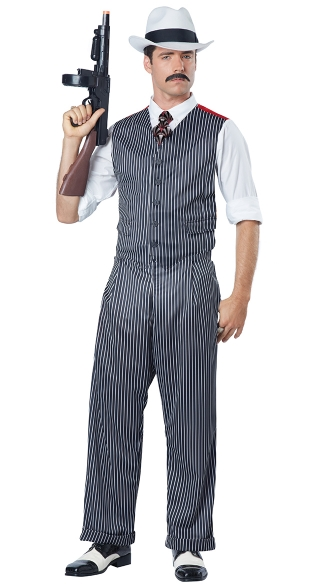 Men\'s Mobster Costume, Men\'s Gangster Costume, Men\'s Pinstripe Costume