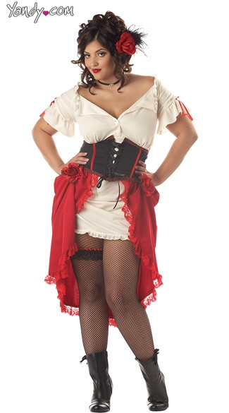 Plus Size Cantina Girl Costume, Plus Size Cantina Senorita Costume, Plus Size Sexy Senorita Costume, Plus Size Cantina Girl Halloween Costume