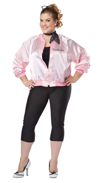 Plus Size The Pink Satin Ladies Jacket