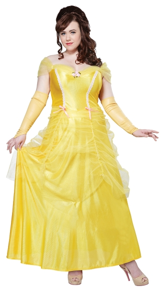 Plus size Classic Beauty Princess Costume, Plus Size Beauty and the Beast Costume, Plus Size Bell Costume