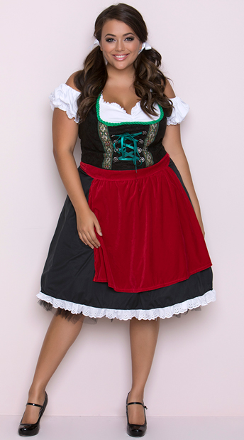 Plus Size Oktoberfest Fraulein Costume, Plus Size Beer Maiden Costume
