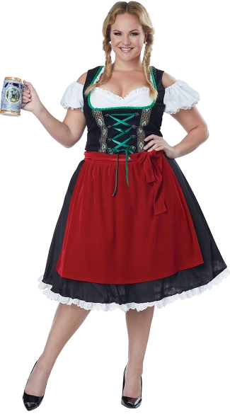 Plus Size Oktoberfest Fraulein Costume Plus Size Beer