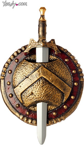 Spartan Combat Shield & Sword, Costume Shield, Costume Sword