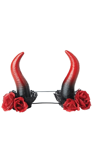 Rose Enchantress Horns, Devil Horns, Devil Horns Headpiece