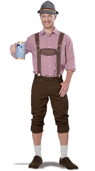 Men\'s Lederhosen Costume Kit, Men\'s Oktoberfest Costume, Men\'s Beer Costume