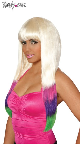 Carnival Wig, Celebrity Wigs, Long Blonde Straight Wig