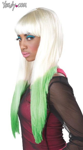 Color Dipped Wig, Colored Wigs, Multi Color Wigs